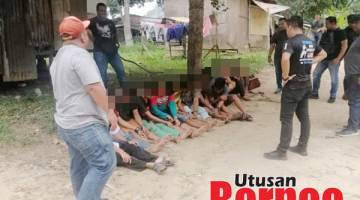 SUSPEK DADAH: Antara suspek dadah yang berjaya ditangkap dalam Ops Sarang Ibu Pejabat Polis Daerah (IPD) Kota Kinabalu.