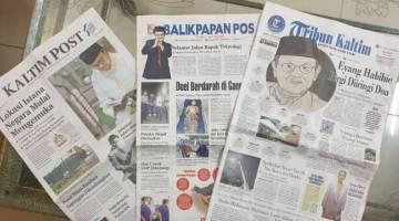 Antara akhbar tempatan di Kalimantan Timur.