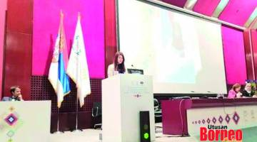 WAKIL: Vivian mewakili Ahli Parlimen Muda dan Ahli Parlimen Wanita di Perhimpunan Kesatuan Antara Parlimen dan Mesyuarat Berkenaan di Belgrade, Serbia.