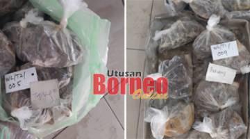 Daging haiwan eksotik yang dirampas dari restoran di Selangau
