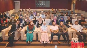 KENANGAN: Gambar kenangan mahasiswa UMS yang menghadiri forum.