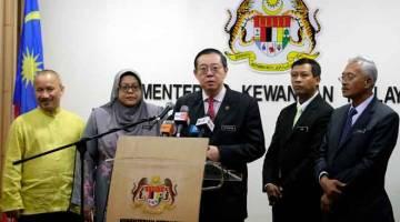 SASARAN: Lim Guan Eng (tengah) ketika sidang media mengenai Festival Putrajaya (Literacy in Financial Technology) LIFT 2019 di Kementerian Kewangan di Putrajaya, semalam. — Gambar Bernama