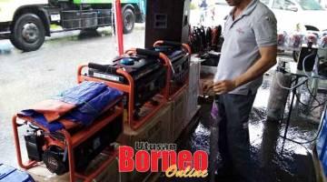 PROMOSI: Jualan peralatan Bosch yang terdapat di Ka Khing Trading Sdn Bhd, Kota Padawan di Kuching.