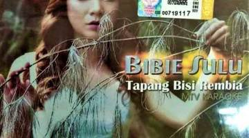 TERBAHARU: Inilah kulit depan album Bibie Sulu yang sudah berada di pasaran.