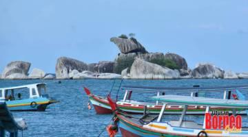 KEPALA HELANG: Pemandangan cantik dari Pantai Tanjung Kelayang.