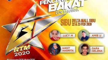 JUMPA DI SANA: Orang ramai yang mempunyai bakat dipelawa untuk menyertai pencarian Bintang RTM 2020 pada esok dan lusa di Delta Mall Sibu.