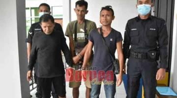 KE PENJARA: Dua lelaki dipenjara satu bulan dan denda RM25,000 didapati bersalah mengumpul kayu tanpa lesen.