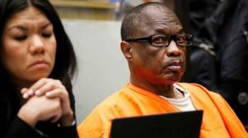 KEJAM: Gambar menunjukkan Franklin Jr. (kanan) duduk di sebelah peguamnya semasa perbicaraan di mahkamah Los Angeles, California pada 9 Ogos, 2016. — Gambar AFP
