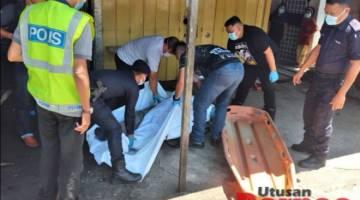 Mayat mangsa dibawa ke Hospital Bintulu untuk tindakan lanjut.