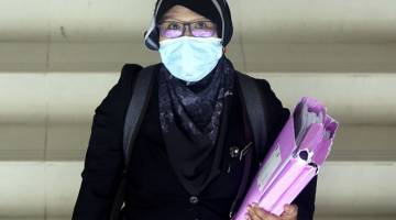 BERI KETERANGAN: Nor Aidora menjadi saksi keenam prosiding inkues bagi menyiasat punca kematian Nora Anne di Mahkamah Koroner Seremban semalam. — Gambar Bernama
