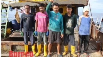 Kru nelayan yang ditahan untuk siasatan lanjut.