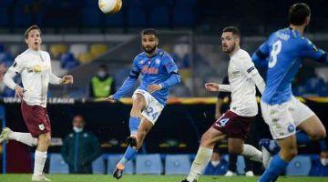 RANCAK: Antara babak aksi perlawanan Liga Europa Kumpulan F di antara Napoli dan Rijeka di Stadium San Paolo, Naples. — Gambar AFP