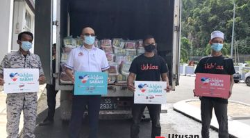 MISI: Misi kemanusiaan melibatkan Ikhlas.Com dan Pertubuhan MyAmal Sabah bersama ESScom yang membantu masyarakat Esszone.