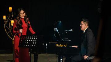 KOLABORATIF: Dayang Nurfaizah bersama Aubrey Suwito.