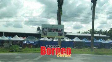 LANGKAH PERLU: Pasar Tamu Betong yang akan ditutup sementara mulai hari ini.