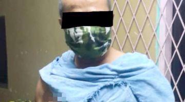 DIKOMPAUN: OKK yang ditahan di Kampung Rancangan Klias kerana melanggar perintah kuarantin.
