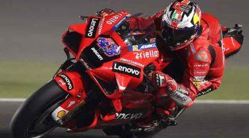 MENYERLAH: Miller semasa sesi latihan menjelang MotoGP Grand Prix Doha di Litar Antarabangsa Losail. — Gambar AFP