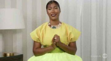 DIIKTIRAF: Gambar tangkap skrin ihsan Screen Actors Guild Awards® ini menunjukkan Simone Ledward Boseman menerima anugerah bagi pihak suaminya Chadwick Boseman yang memenangi pelakon lelaki terbaik untuk filem 'Ma Rainey's Black Bottom' semasa anugera SAG yang diadakan secara maya baru-baru ini. — Gambar AFP