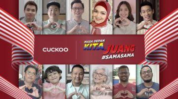 """Bersempena dengan sambutan Hari Kebangsaan baru-baru ini dan Hari Malaysia yang yang disambut kelak, CUCKOO International (MAL) Sdn Bhd telah melancarkan sebuah video perayaan berjudul """"Masa Depan Kita, Juang #SAMASAMA"""". Video ini menampilkan 12 individu daripada pelbagai lapisan masyarakat, termasuk Pengasas dan Ketua Pegawai Eksekutif CUCKOO International (MAL) Sdn Bhd, Encik Hoe Kian Choon (KC Hoe) [barisan atas, ketiga dari kiri] dan Duta CUCKOO, Dato' Sri Siti Nurhaliza (barisan atas, keempat dari kiri"""