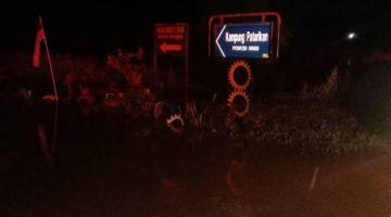 Kampung Patarikan Merapok Lawas yang dinaiki air awal pagi tadi