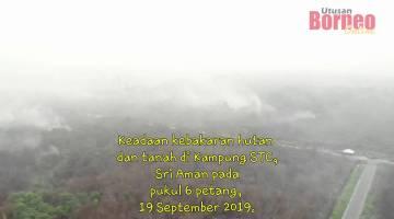 Embedded thumbnail for Kawasan kebakaran hutan dan tanah di Kampung STC, Sri Aman.