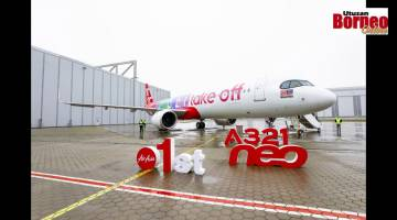 Embedded thumbnail for Pesawat Airbus A321neo sulung milik AirAsia