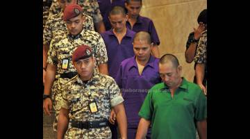 KEGANASAN: Sembilan warga Filipina dalam kes pencerobohan Lahad Datu di Sabah dijatuhkan hukuman mati selepas Mahkamah Rayuan membenarkan rayuan pendakwa raya. — Gambar Bernama