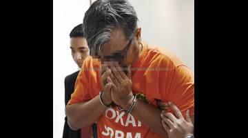 BANTU SIASATAN: Seorang lagi lelaki ditahan reman selama tujuh hari bagi membantu siasatan kes penyelewengan skim baja padi bernilai kira-kira RM2.54 juta di Melaka, semalam. — Gambar Bernama