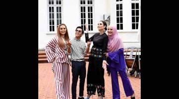 TURUT SERTA: (Dari kiri) Pengarah Eksekutif Residlience Studios Shuhada Mohd, Aiman Tino, Shasha Elite dan Azza Elite.