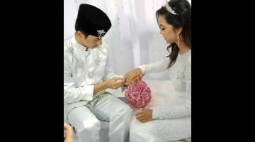 BERKAHWIN: Babak perkahwinan Sufi dan Aidan.