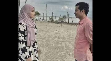 MENARIK: Babak cinta watak Aziz dan Jannah lakonan Syafie Naswip dan Aishah Azman.