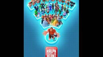 DI PAWAGAM: Filem terbaharu oleh Disney, 'Ralph Breaks the Internet' menguasai kaunter tiket Amerika Utara pada cuti hujung minggu selepas berjaya mengaut anggaran AS$55.7 juta untuk tayangan selama tiga hari dari Jumaat hingga Ahad.