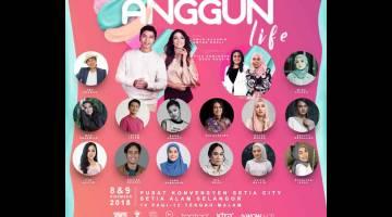 MERIAH: Temui ramai selebriti tempatan di festival Anggun Life akan singgah di Pusat Konvensyen Setia City, Setia Alam Selangor pada hujung minggu ini (8 & 9 Disember 2018).