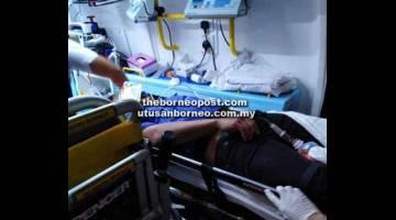 TRAGIK: Mangsa kemalangan di Jalan Batu Kawa dikejarkan ke HUS sebelum disahkan meninggal dunia semalam.