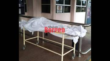 Mangsa dibawa ke Hospital Saratok untuk bedah siasat