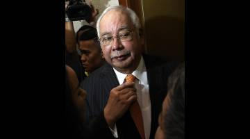 Najib hadir di Kompleks Mahkamah Kuala Lumpur hari ini. - Gambar Bernama