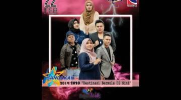 PESERTA: Enam peserta yang akan berentap pada Bintang Sandakanfm 2019/2020, Sabtu ini.