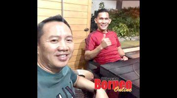 BINCANG: Jelius (kanan) berbincang dengan Verdon perancangan untuk Sabah FC.