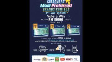 JOM SERTAI: Peraduan 'Customers' Most Preferred Brands                Contest' anjuran Everrise.