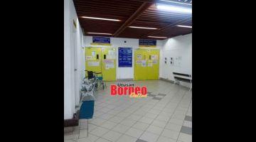 TANGGUH SEMENTARA: Entara klinik pakar di Sepital Miri ti ditangguhka sementara servis ari 18 Januari nyentukka 22 Januari 2021.