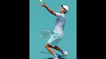 HARAPAN: Sinner harapan terbaharu Itali untuk menempa nama dalam sejarah sukan tenis. — Gambar AFP