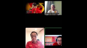 DEKA MAI PEMANSANG: Wong (baruh kiba) maya ti nyereta Program Licha Raban Nembiak PSB nengah Zoom.