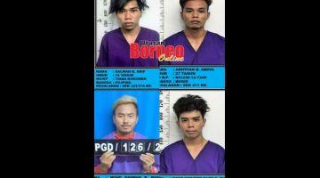 DIBURU: Polis giat memburu empat tahanan positif COVID-19 yang melarikan diri dari puat kuarantin.