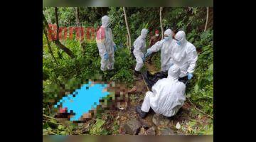 PERIKSA: Pasukan perubatan menjalankan pemeriksaan di lokasi kejadian.