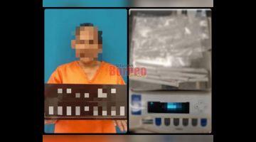 RAMPAS: Syabu yang ditahan di dalam rumah milik suspek wanita di Skim Penempatan Telipok, di sini semalam.